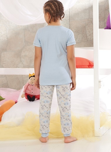 Zeyzey Pijama Takım Mavi